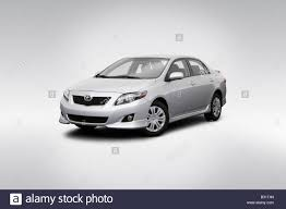 2009 Toyota Corolla S in Silver - Front angle view Stock Photo ...