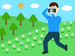 カメラが趣味の男性と女性の無料イラスト Aiepspng カフィネット