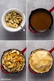 Gently press the dough against the sides of the skillet to form the bottom crust of the pie. Easy And Rustic Apple Pie Recipe Belly Full