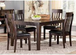 DR46 Rustic Charm Dark Dining Table \u0026 4 Chairs Room Sets Dinette For Less | Taft Furniture