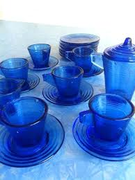 agate blue dish set by colored glass dinnerware sets