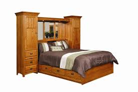 bedroom wall unit furniture. Amish Monterey Pier Wall Bed Unit With Platform Storage Base Bedroom Furniture