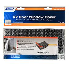 Door Window Cover Sunshield Reflective Door And Window Covers Camco