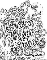 Quote About Dream For Adults Coloring Pages Printable