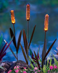 solar garden lights that look like theyre the tops of plants cool and awesome modern landscape lighting design ideas bringing