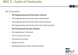 Nec3 The Engineering And Construction Contract An Overview