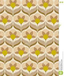 Het Behang Van De Jaren 60bloem Vector Illustratie Illustratie
