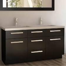 double sink vanity. design element moscony espresso 60-inch double sink vanity set