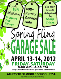 athey creek spring fling garage  for next year s