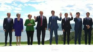 The leader who has been in office the longest of the eight leaders is considered the senior g7 leader; G7 Leaders Take Family Photo Trump Campaign Manager Indicted Video Abc News