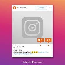 instagram frame with new message free vector