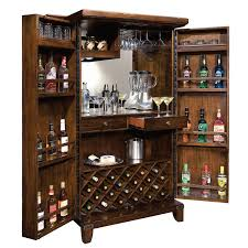 Cherry Bar Cabinet Home Bar Furniture Full Service Home Bars Wine Enthusiast
