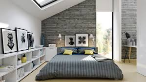contemporary attic bedroom ideas displaying cool. Pretty Loft Bedroom Furniture Idea With Low Platform Bed And Desk Contemporary Attic Ideas Displaying Cool D