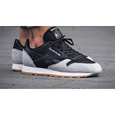 reebok leather. zoom immagine shoes reebok classic cl leather spp ar1895 running man black cloud grey gum e