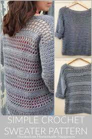 Make Your Own Sweater Design Simple Crochet Sweater Pattern 8 Hooked On Homemade Happiness