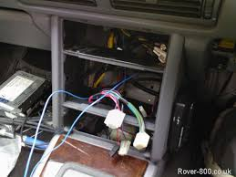rover wiring radio clocks hazard warning light 2 new wires fed through from fuse box 1 from switched live and 1 from