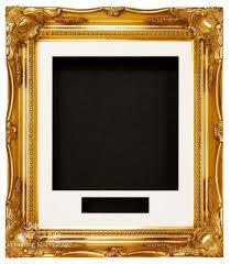 gold swept ornate deep box frame 12x10 choose mount