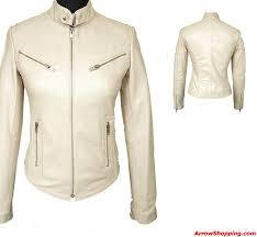 womens tab collar cream biker leather jacket 97872 zoom helmet