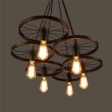 cheap industrial lighting. Wrought Iron Wheel Pendant Light Vintage Industrial Lighting Loft Lamp Bar American Country Style Design For Cheap O