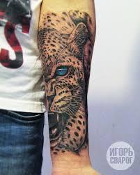 тату леопард фото