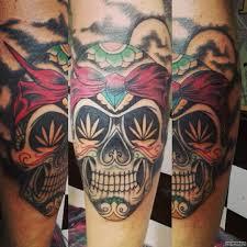 мексиканский череп тату на голени у парня добавлено иван вишневский