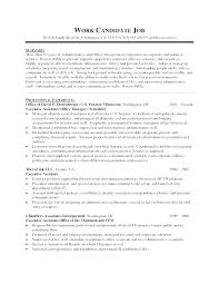 Resume Career Objective Statement Impressive Career Objective Administrative Assistant Resume Executive Job