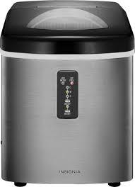 Insignia™ 33-Lb. <b>Portable</b> Ice Maker <b>Stainless steel</b> NS-IMP33SS9 ...