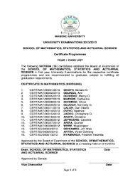 Sample Degree Certificates Of Universities Example Of Copy Of Degree Certificate For Maseno Fill