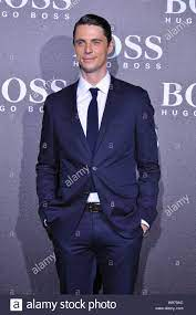 English actor Matthew Goode poses during a Hugo Boss fashion show in  Beijing, China, 18 May 2012 Stock Photo - Alamy