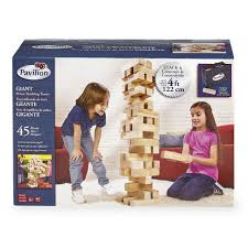 How To Play Tumbling Tower Wooden Block Game Pavilion Games Giant Tumbling Tower ToysRUs 45