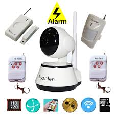 Anti theft WIFI alarm system wireless ptz mini ip camera HD home security  with door sensor pir motion detector app control-in Alarm System Kits from  ...