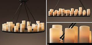 pillar candle chandelier rectangular shapeyourminds