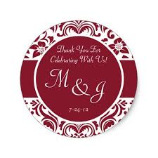 Wedding Cd Labels Red And White Wedding Cd Labels