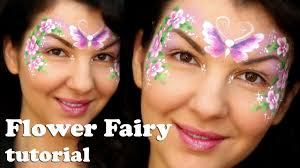 easy flower fairy makeup face painting tutorial for beginners