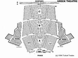 Greek Theater Berkeley Seating Chart Unique Greek Theater