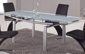 Frosted glass dining table Dining Room Global Furniture Usa 88 Glass Dining Table Frosted Leg Gfd88dtsilver At Homelementcom Homelementcom Global Furniture Usa 88 Glass Dining Table Frosted Leg Gfd88dt