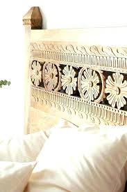 carved wood headboard carved wooden king headboard lovely headboards for your brackets with wood white large hand woo carved wood headboard boho carved wood