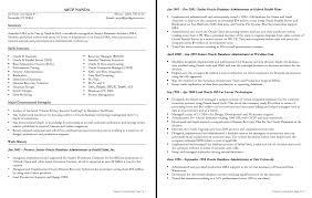 DBA resume database administrator resume