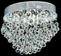 messina collection 16 dia large flush mount crystal ceiling light