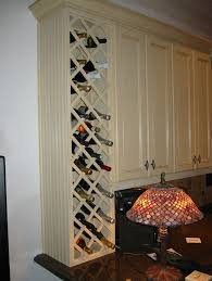 built in wine cabinet.  Cabinet End Of Cabinet Built In Wine Rack Could Leave Bottom Open For The Glasses With Built In Wine Cabinet N