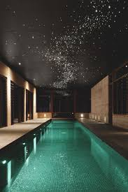 indoor swimming pool lighting. indoor swimming pool with star lights above lighting e