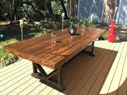 s en faux wood outdoor dining table bryant rectangle patio