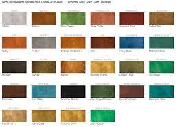 Color Your Concrete The Below Concrete Stain Colors Were