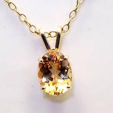 1 75ct precious topaz 14kt yellow or white gold pendant w scott forrest gemstones