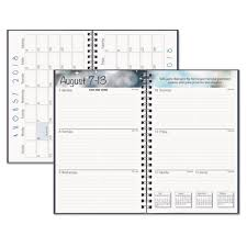 planners weekly monthly recycled academic weekly monthly appointment book planner