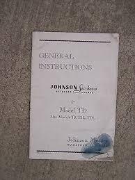 1948 Johnson Sea Horse Outboard Motors Handy Chart Poster