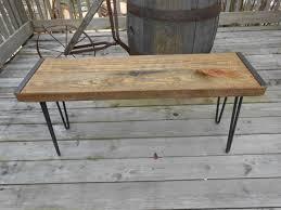 reclaimed wood furniture etsy. Awesome Idea Reclaimed Wood Furniture Etsy Bench Industrial Barn Hairpin Legs Angle Iron O