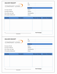 Customer Delivery And Bill Receipt Template And Form Sample