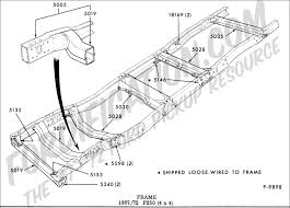 ford truck technical drawings and schematics section d frame F350 Frame Diagram frame 1967 1972 f250 (4x4) Ford F-350 Frame Width