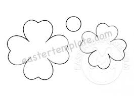 Free Paper Flower Templates Printable Easter Template
